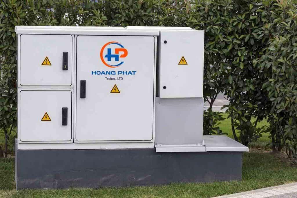 Vỏ tủ điện ngoài trời nhỏ và lớn ở chung cư