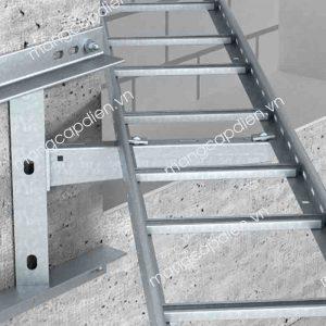 Khung chuyển hướng thang máng cáp gắn tường