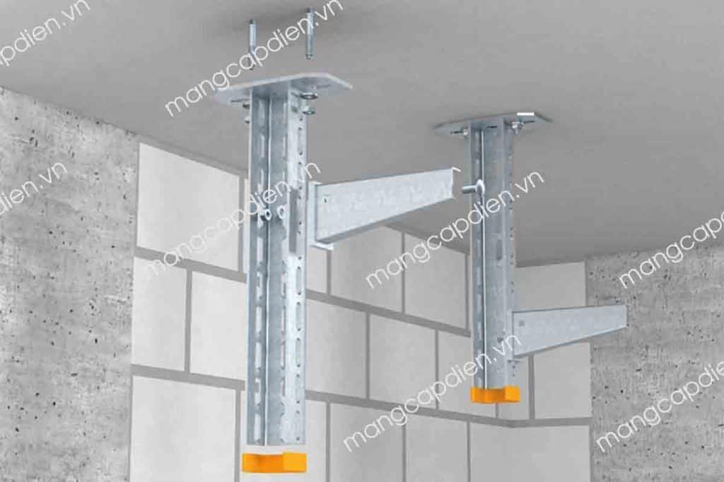 Khung gắn trần cho hệ thống thang máng cáp