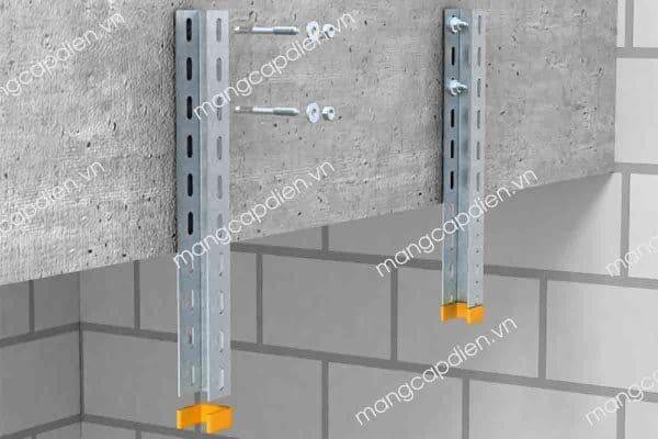 Thanh treo tường - một loại giá đỡ thang máng cáp