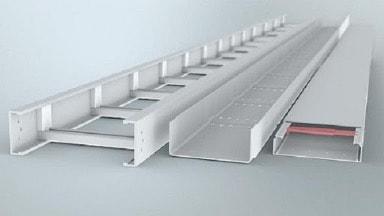 Chất liệu của thang máng cáp rất đa dạng và luôn được phủ bên ngoài một lớp mạ kẽm