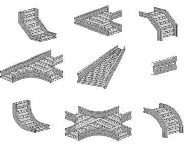 Máng cáp đục lỗ được thiết kế đa dạng để phù hợp với nhu cầu thi công