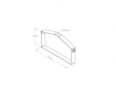 Kích thước của quang treo máng cáp được chọn dựa trên kích thước của thang máng cáp